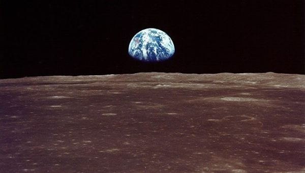 Вид на Землю с Луны