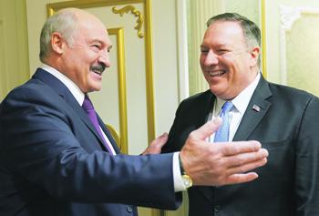 Визит госсекретаря США Майкла Помпео в Минск в феврале 2020 года стимулировал рост нарциссизма Александра Лукашенко. Фото Reuters
