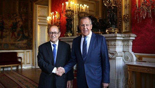 Визит главы МИД РФ С. Лаврова в Париж.