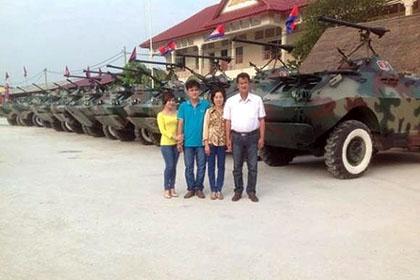 Вьетнамский фермер Чан Куок Хай (Trần Quốc Hải), модернизировавший парк бронированных автомобилей Камбоджи.