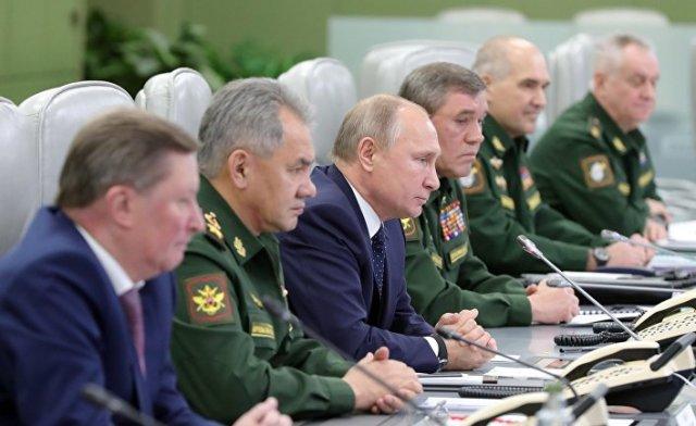 Владимир Путин наблюдает за пуском ракеты комплекса «Авангард»