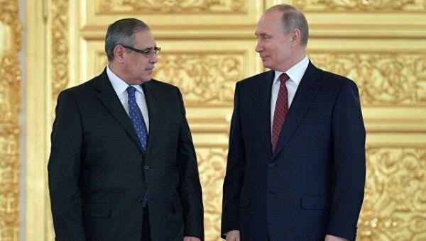 Владимир Путин и Ихаб Ахмед Талаат Наср