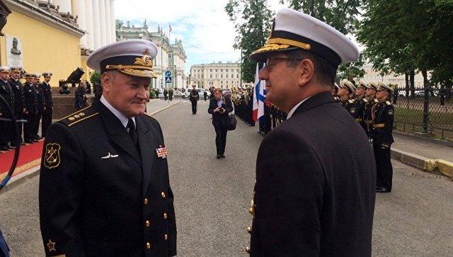 ВМС Турции завершила визит в Санкт-Петербург.