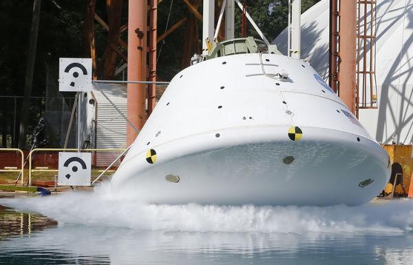 Во время испытаний Orion