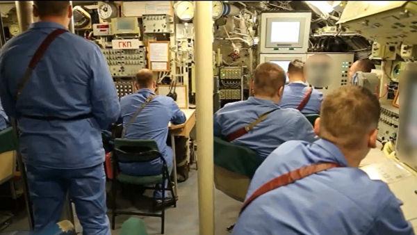 """Во время испытания подводной лодки — носителя беспилотного комплекса """"Посейдон"""""""