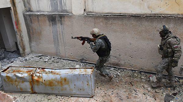 Во время подготовки сирийских военнослужащих и бойцов ополчения российскими военными инструкторами в провинции Хама