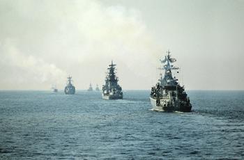 Военно-морской флот Советского Союза создавался как сила, способная противостоять западной коалиции, но был лишь вторым по мощи. Фото РИА Новости