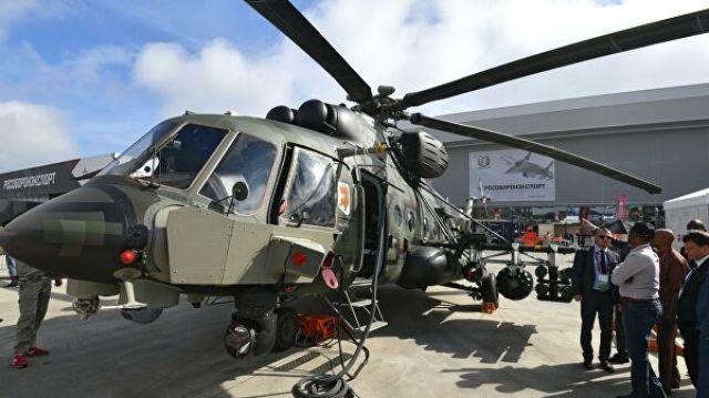 """Военно-транспортный вертолет Ми-171Ш Storm на выставке вооружений Международного военно-технического форума """"Армия-2020"""""""