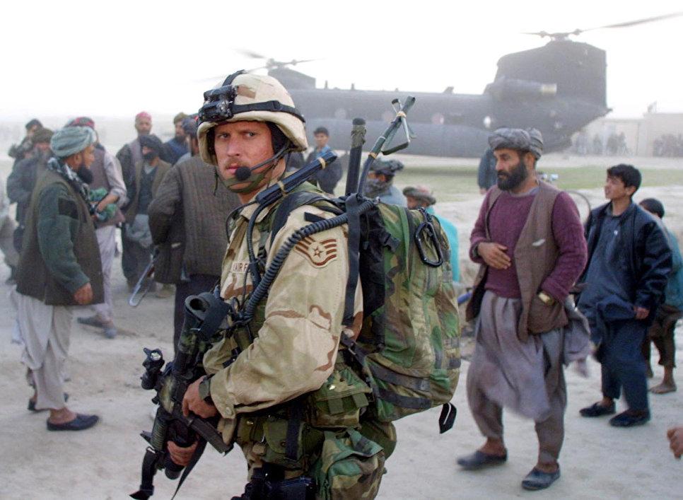 Военнослужащий сил специального назначения армии США в Афганистане.