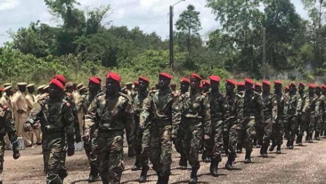 Военнослужащие центральноафриканской армии