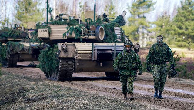 Военнослужащие Канады на военных учениях НАТО в Латвии. Архивное фото.