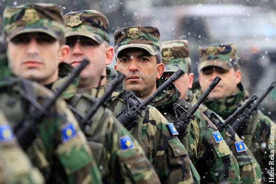Военнослужащие сил самообороны Косово