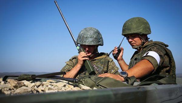 Военнослужащие во время тактико-специальных учений Новороссийского гарнизона Южного военного округа. 15 сентября 2017