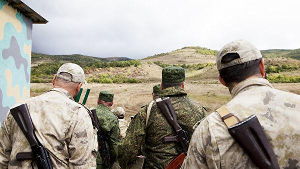 """Военнослужащие во время учений на полигоне """"Дзарцем"""" в Южной Осетии. Архивное фото"""