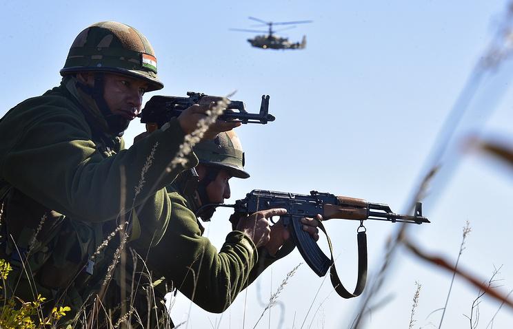 Военнослужащие вооруженных сил Индии.