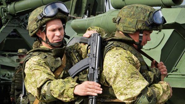 Военнослужащие вооруженных сил РФ во время учений Запад-2017