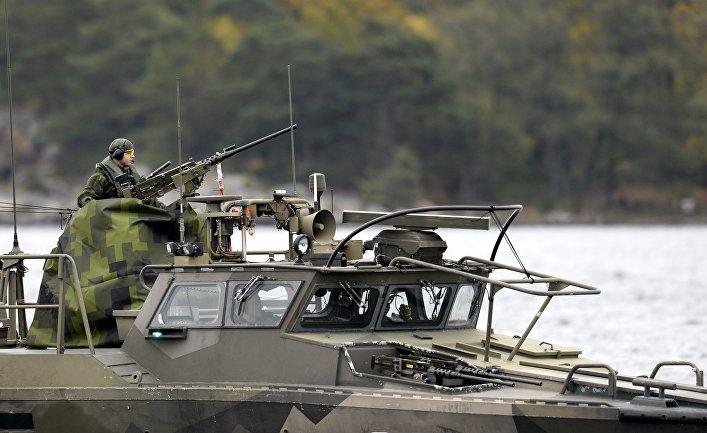 Военнослужащие вооруженных сил Швеции.