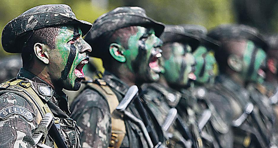 Военнослужащие ВС Бразилии.