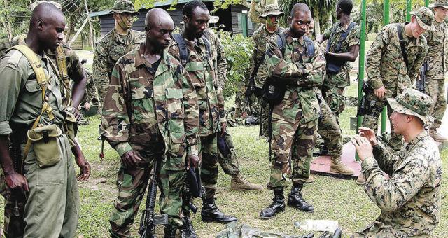 Военнослужащие ВС Ганы