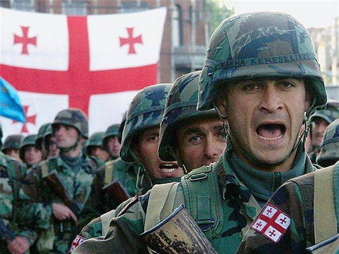 Военнослужащие ВС Грузии.