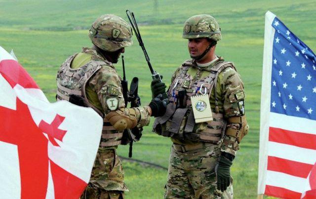 Военнослужащие ВС Грузии и США