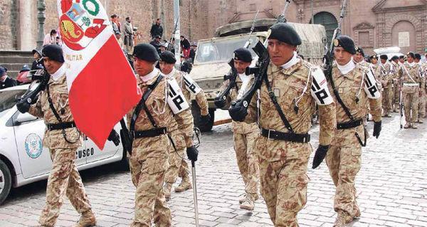 Военнослужащие ВС Перу