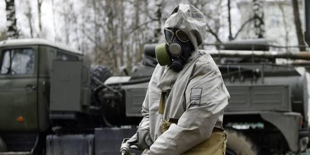 Военнослужащий подразделения РХБЗ