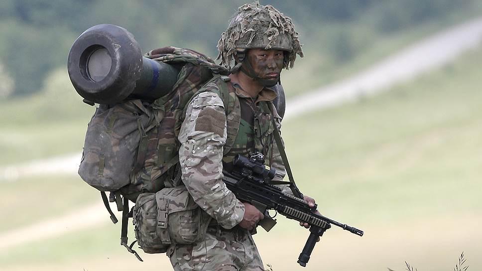 Военнослужащий ВС Великобритании.