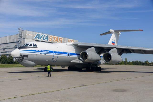"""Военно-транспортный самолет Ил-76МД-90А (заводской номер 0202, регистрационный номер RF-78657), построенный на АО """"Авиастар-СП"""" в 2019 году и переданный в состав 235-го военно-транспортного авиационного полка 18-й военно-транспортной авиационной дивизии В"""