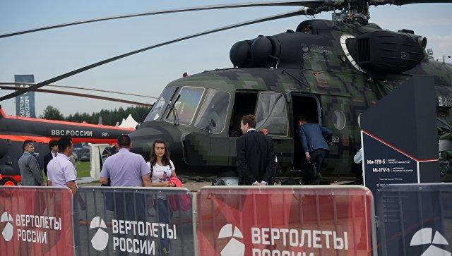 Военно-транспортный вертолет Ми-17. Архивное фото.
