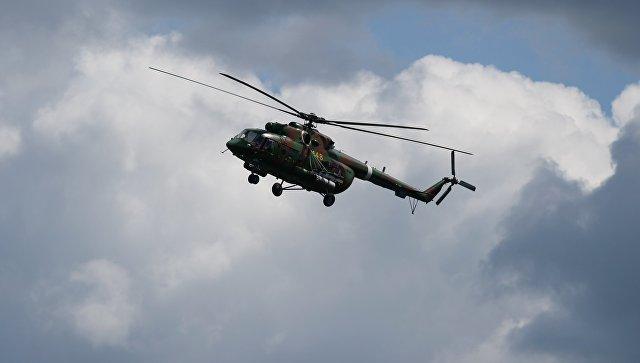 Военно-транспортный вертолет Ми-8АМТШ. Архив.