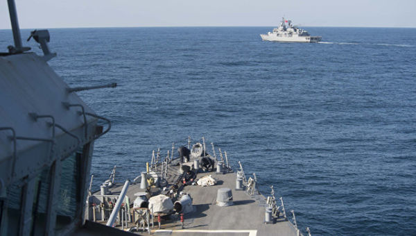 Военные корабли НАТО в Черном море.