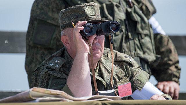 Военные учения на полигоне Алагяз в Армении. Архивное фото.