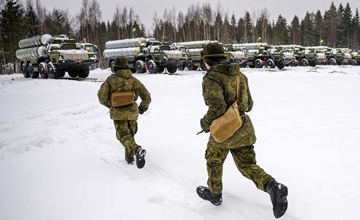 Военные учения с применением ЗРС С-400 в Ленинградской области.