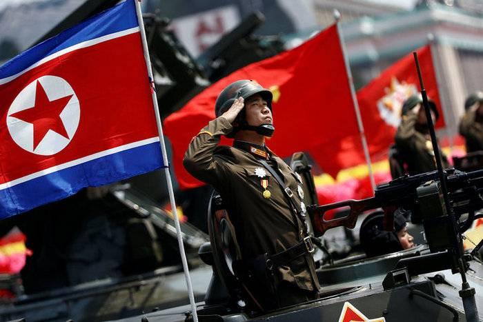 Военный парад, посвященный 70-летию основания армии КНДР.