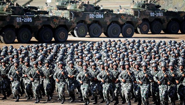 Военный парад, посвященный 90-летию Народно-освободительной армии Китая. 30.07.2017.