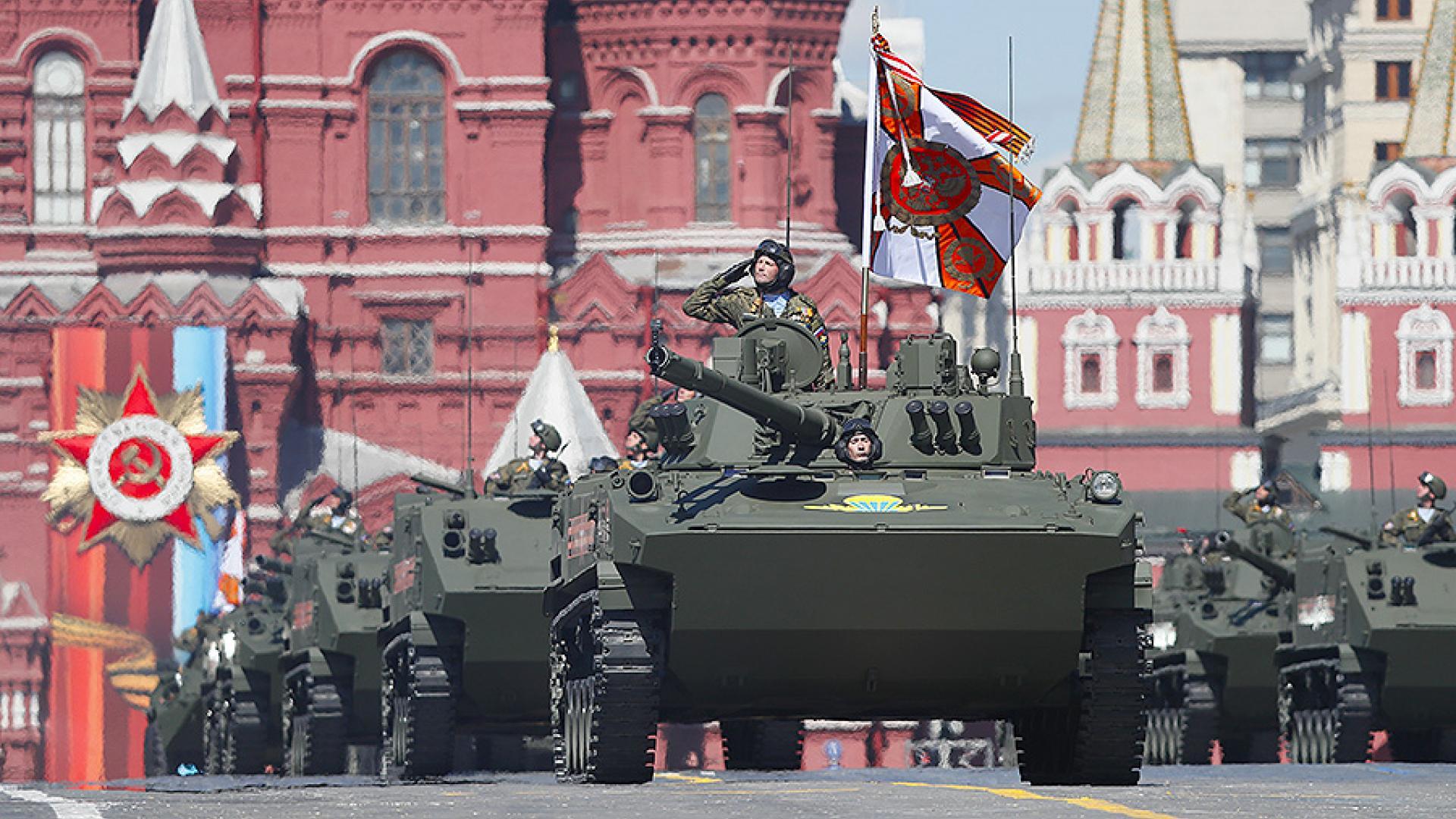 Военный парад Красной площади.