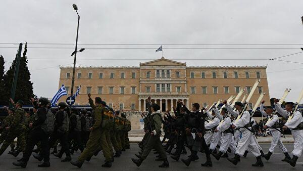 Вонный парад во время дня независимости в Греции. 25 марта 2018