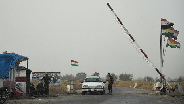Вооруженные силы Иракского Курдистана в провинции Киркук в Ираке. Архивное фото.