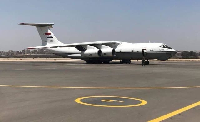 """Вошедший в состав ВВС Египта бывший иорданский военно-транспортный самолет Ил-76МФ (египетский бортовой номер """"1332"""", египетская регистрация SU-BTY, серийный номер 96-02, заводской номер 2013423808, в Иордании имел бортовой номер """"361"""" и регистрационный н"""
