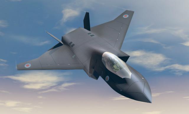 Возможный облик перспективного британского истребителя Tempest.