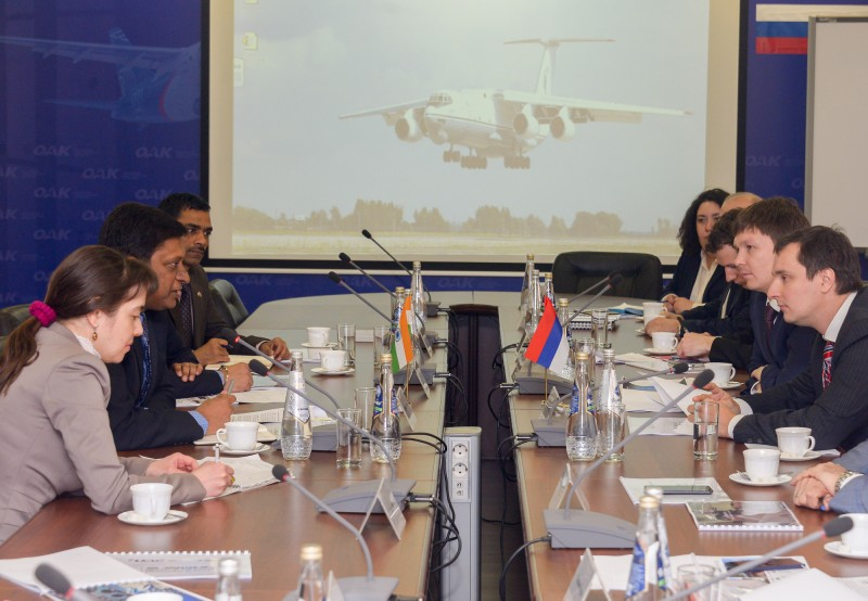 Встреча с делегацией министерства обороны Индии.