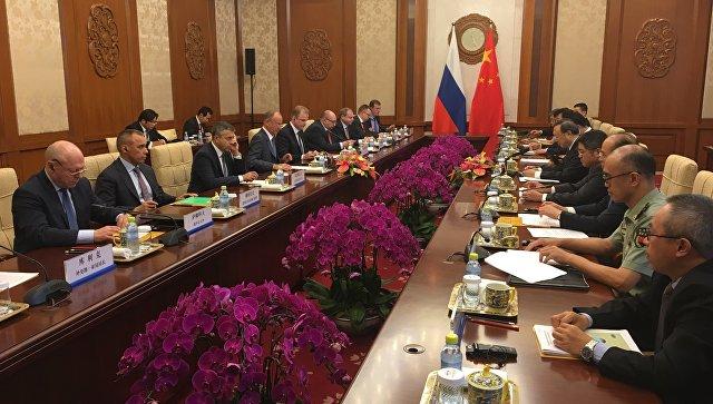 Встреча с участием Николая Патрушева в Пекине. 26 июля 2017.