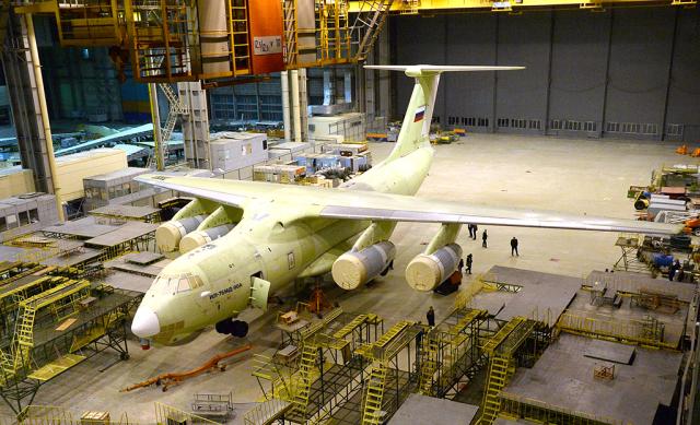 """Второй построенный в 2019 году на АО """"Авииастар-СП"""" военно-транспортный самолет Ил-76МД-90А (заводской номер 0203). Ульяновск, октябрь 2019 года"""