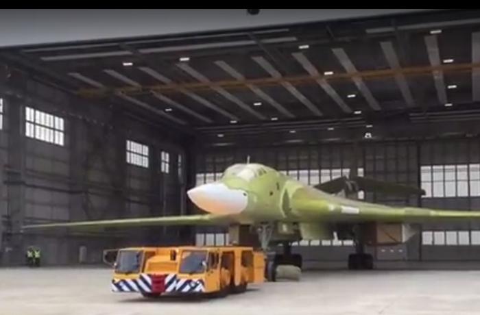Выкатка Ту-160.