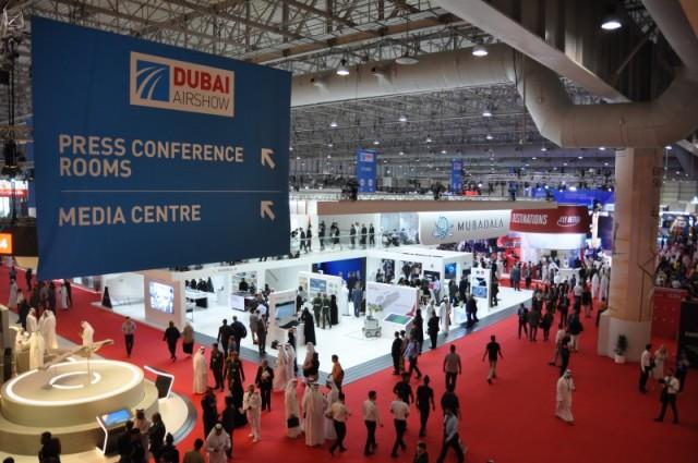 Выставочный павильон авиасалона Dubai Airshow 2019 (c) bmpd