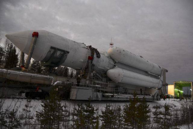 Вывоз «Ангара-А5» на стартовый комплекс