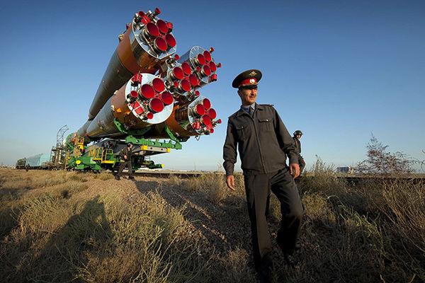 Вывоз ракеты-носителя «Союз-ФГ»