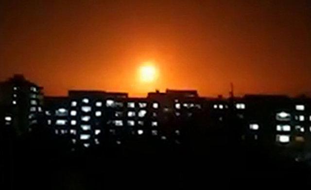 Взрыв после израильского авиаудара в Сирии