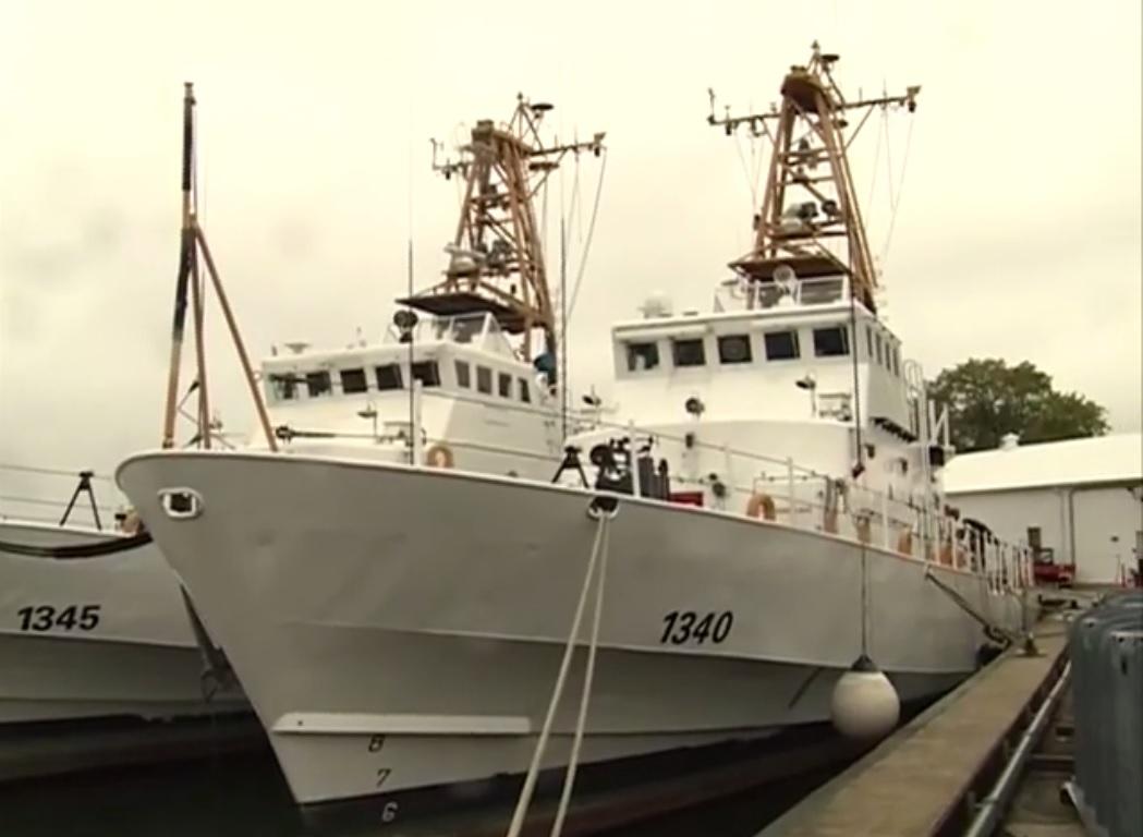 Церемония передачи береговой охране Грузии сторожевых катеров WPB 1340 Jefferson Island и WPB 1345 Staten Island типа Island, выведенных из состава береговой охраны США. Балтимор, 30.09.2016.